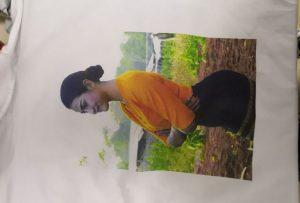 WM-EP6090T printerindən Burma müştərisi üçün T-shirt çap nümunəsi
