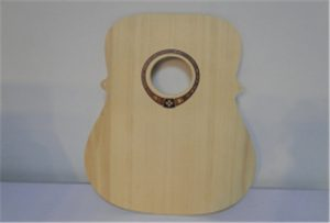A2 ölçülü uv printer WER-DD4290UV dən ağac gitara nümunəsi